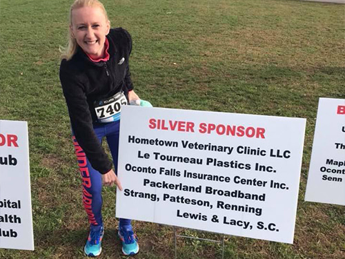 The firm was a proud sponsor of the Run for the Trails event in Oconto Falls, and Attorney Jenna Rousseau did a great job running the 5k!